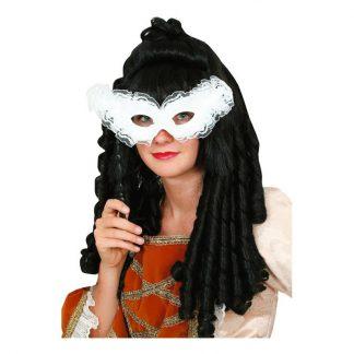 Ögonmask Spets på Pinne Vit - One size