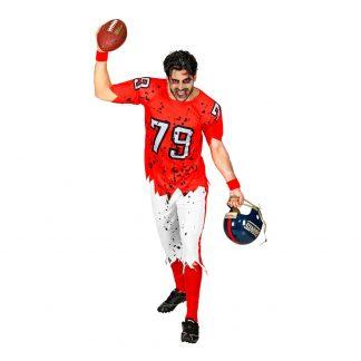Amerikansk Fotbollsspelare Zombie Maskeraddräkt - Small