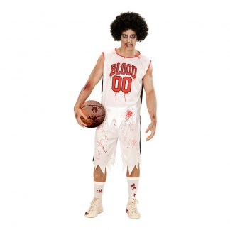 Basketspelare Zombie Maskeraddräkt - Large
