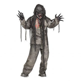 Brännskadad Zombie Barn Maskeraddräkt - Large