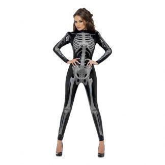 Catsuit Skelett Maskeraddräkt - X-Small