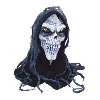 Dödskalle Mask med Huva