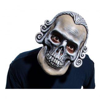 Dödskalle med Lockar Mask - One size