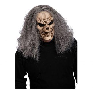 Döskalle med Hår Mask - One size