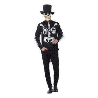 Day of the Dead Señor Skelett Maskeraddräkt - X-Large
