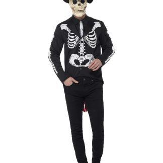 Day of the Dead Skelett Kostym och Hatt