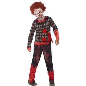 Deluxe Zombie clown maskeraddräkt