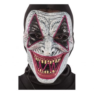 El Wire LED Clown Mask - One size