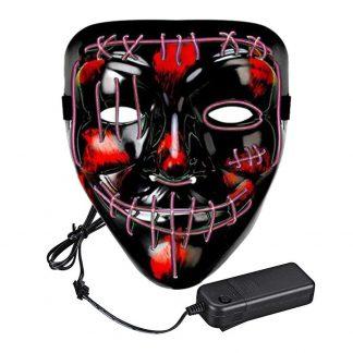 El Wire Purge 2 LED Mask - Rosa