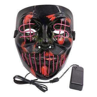El Wire Purge Dollarsign LED Mask - Rosa