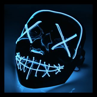 El Wire Purge LED Mask - Blå