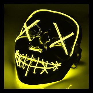 El Wire Purge LED Mask - Gul