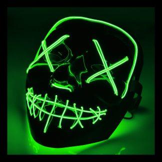 El Wire Purge LED Mask - Mörkgrön