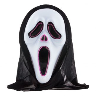 El Wire Scream LED Mask - One size