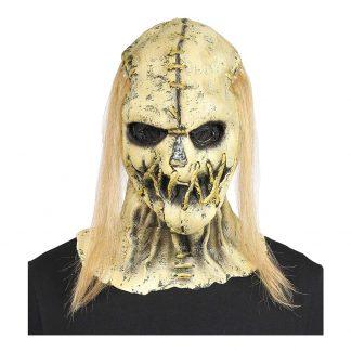 Fågelskrämma Döskalle Mask med Hår - One size