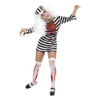 Fångdräkt Kvinnlig Zombie Maskeraddräkt - Medium