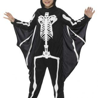Fladdermus Skelett Maskeraddräkt Barn