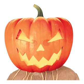 Gigantisk Halloweenpumpa Mask - One size