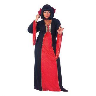 Gotisk Vampyr Plus-size Maskeraddräkt - Plus size