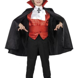 Greve Dracula Maskeraddräkt Barn, LARGE