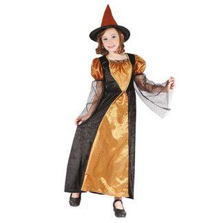 Halloween Häxa Barn Maskeraddräkt