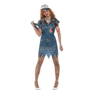 Hillbillytjej Zombie Maskeraddräkt - X-Small