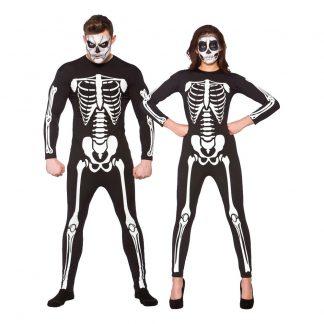 Jumpsuit Skelett Maskeraddräkt - Medium