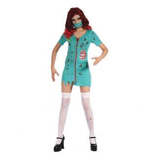 Kirurgsjuksköterska Zombie Maskeraddräkt - One size