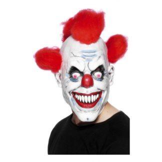 Läskig Clownmask med Hår - One size