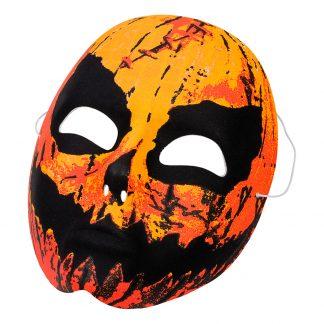 Läskig Pumpa Mask - One size