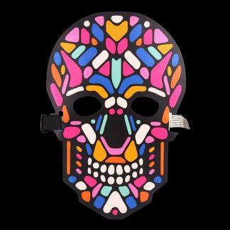 LED Mask Döskalle Flerfärgad