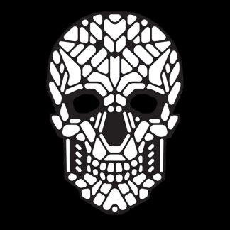 LED Mask Döskalle vit