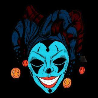 LED Mask Kvinnlig Gycklare