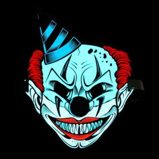LED Mask Läskig Clown med Hatt