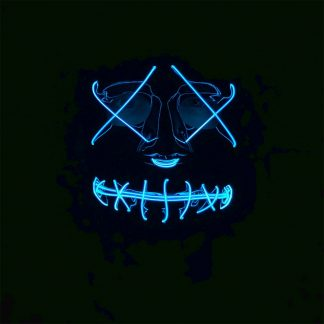LED Mask Stitches Blå Neon - One size