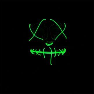 LED Mask Stitches Grön Neon - One size