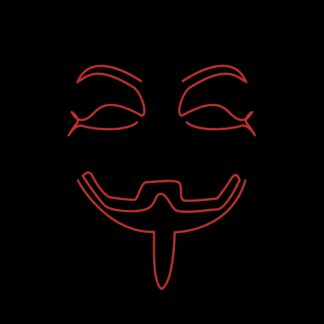 Led Mask Anonymous - One size