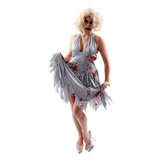 Marilyn Monroe Zombie Maskeraddräkt - Large
