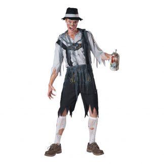 Oktoberfest Zombie Maskeraddräkt - Medium
