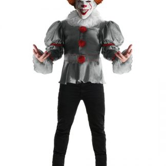 Pennywise Clown Deluxe Maskeraddräkt Wlarge