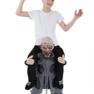Piggy Back Zombie Barn Maskeraddräkt