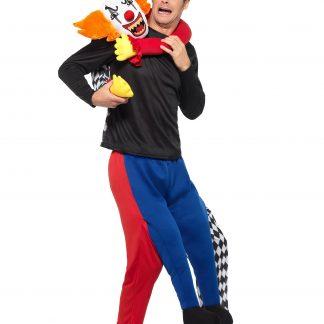 Piggyback Kidnappande Clown Maskeraddräkt