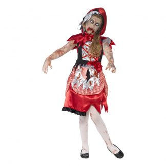 Rödluvan Zombie Barn Maskeraddräkt - Large