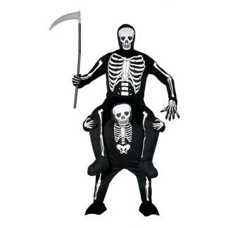 Ridande Skelett Maskeraddräkt - Large