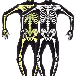 Självlysande Skelett Dräkt