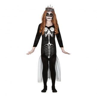 Sjöjungfru Skelett Barn Maskeraddräkt - 7-9 år