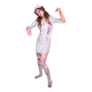 Sjuksköterska Zombie Maskeraddräkt - Small