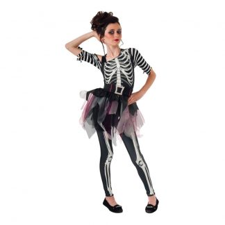 Skelett Ballerina Barn Maskeraddräkt - Medium