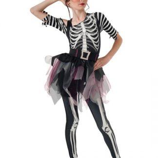 Skelett Ballerina Maskeraddräkt Barn Small