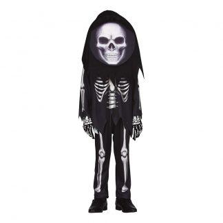 Skelett Barn Maskeraddräkt - Medium (5-6 år)